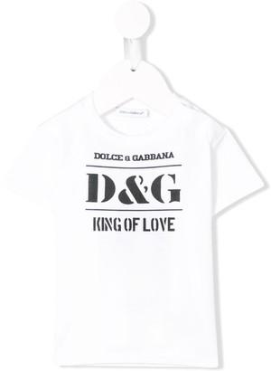 Dolce & Gabbana Kids King of Love T-shirt