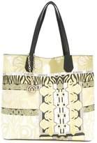Versace multi-pattern tote