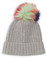 Portolano Kids Girl's Dyed Fox Fur Cashmere Hat