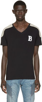Pierre Balmain Black & Beige Topstitched T-Shirt