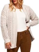 Dex Crochet Open-Front Cardigan