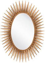 One Kings Lane Oval Starburst Wall Mirror - Gold