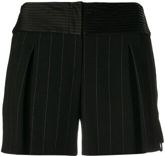 Giorgio Armani Pre-Owned Pinstripe Mini Shorts