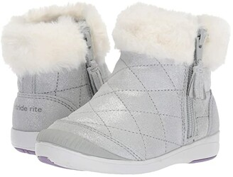 Stride Rite Chloe (Toddler/Little Kid) (Silver Leather) Girls Shoes