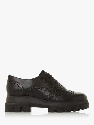 Dune Funk Chunky Sole Leather Brogues, Black