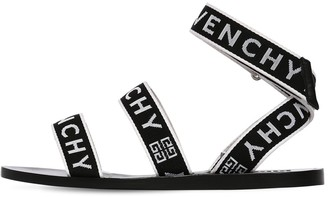 Givenchy 10mm Strap Logo Gros Grain Sandals