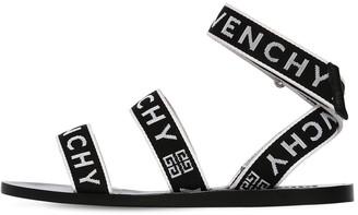 Givenchy 10MM STRAP LOGO GROS GRAIN SANDALS