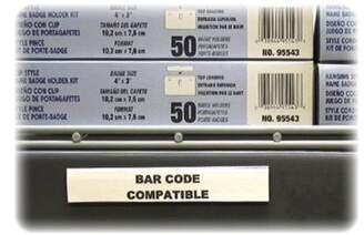 """clear C-Line Products, Inc. HOL-DEX Magnetic Shelf/Bin Label Holders, Clear, 10-Pack, 3 Sizes C-Line Products, Inc. Size: 6""""Lx1/2""""H"""