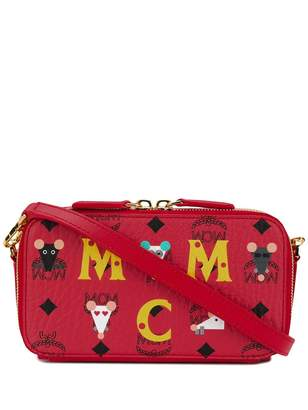 MCM Camera logo zipped bag