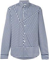 Kenzo asymmetric striped shirt - men - Cotton - 39