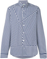 Kenzo asymmetric striped shirt - men - Cotton - 41
