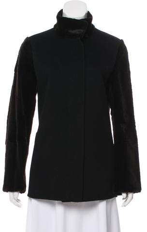 Giuliana Teso Fur-Paneled Cashmere Jacket