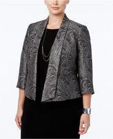 Kasper Plus Size Metallic-Print Jacquard Jacket