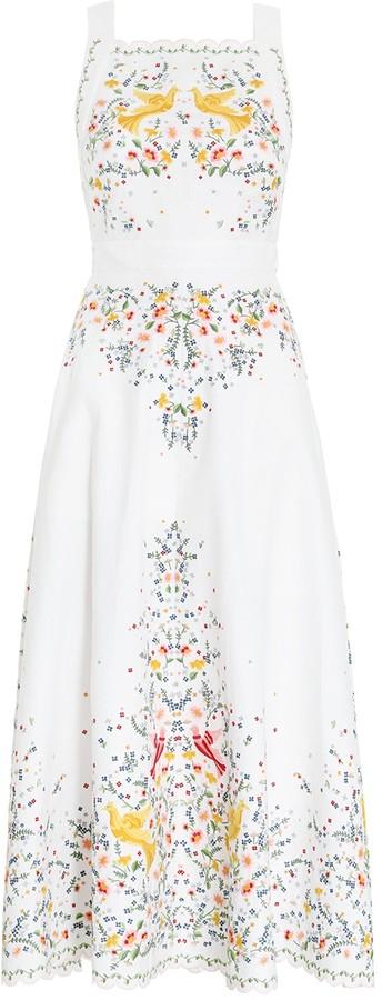 Zimmermann Carnaby Embroidered Bird Dress