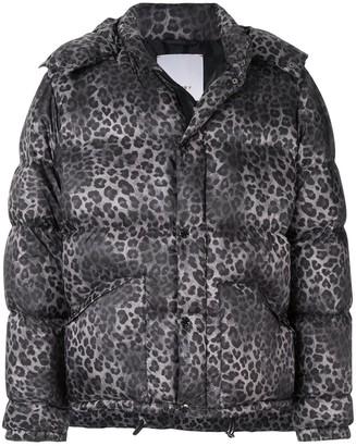 Ports V Leopard-Print Padded Jacket