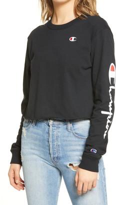 Champion Long Sleeve Crop Boyfriend T-Shirt