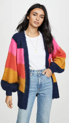 Scotch & Soda Brushed Colorful Striped Cardigan