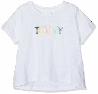 Tommy Hilfiger Girl's Colored Tommy Logo S/s T-Shirt