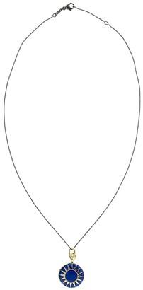 Monica Rich Kosann 18kt Yellow Gold Vermeil Enamel Locket Necklace