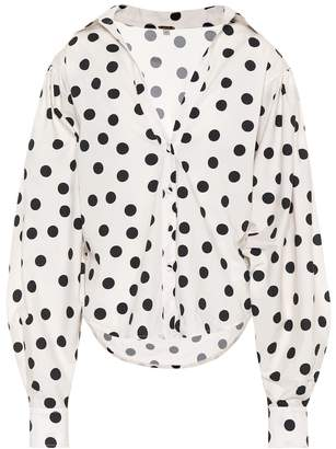 Johanna Ortiz Exclusive to mytheresa.com Samoa polka-dot cotton top