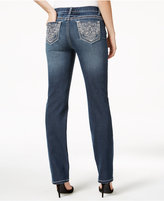 Earl Jeans Embellished Dark Wash Straight-Leg Jeans