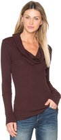 Bobi Modal Thermal Cowl Neck Long Sleeve Top