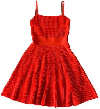 Christian Dior Orange Polyester Dresses