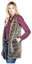 GUESS Women's Jania Faux-Fur Vest