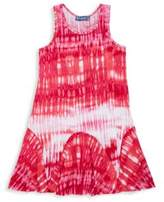 Hannah Banana Girl's Sleeveless Tie-Dye-Print Dress