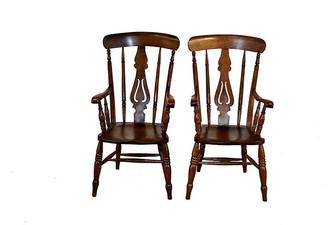 One Kings Lane Vintage 19th-C. Ladder Back Chairs - Set of 2 - Black Sheep Antiques
