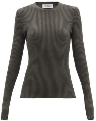 Gabriela Hearst Browning Ribbed Cashmere-blend Sweater - Khaki