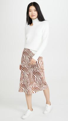 re:named apparel Wild Zebra Midi Skirt