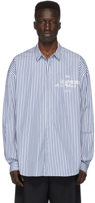 Juun.J Blue Striped Shirt