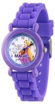 Disney Girls' Princess Rapunzel Purple Plastic Time Teacher Watch - Purple