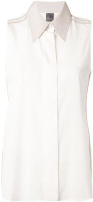 Lorena Antoniazzi Contrast Piping Loose-Fit Shirt