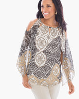 Chico's Eclectic Medallions Cold-Shoulder Tunic