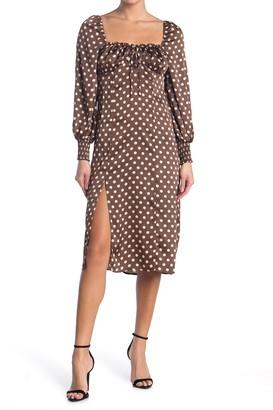 re:named apparel Fenn Polka Dot Midi Dress