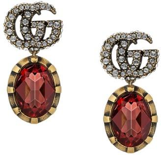 Gucci GG crystal drop earrings