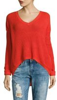 MinkPink Wave Goodbye V-Neck Hi-Lo Pullover