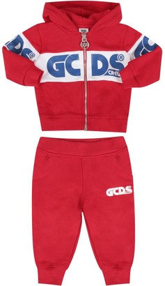 GCDS Mini Black Tracksuit For Babyboy With Logo