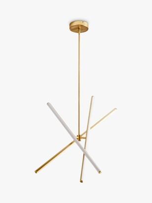west elm Light Rods LED Ceiling Light, Antique Brass