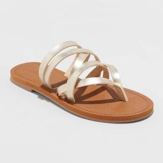 Universal Thread Women's Maritza Multi Strap Toe Slide Sandals - Universal ThreadTM