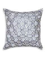 Jonathan Adler Interlocking Satin-Stitch Pillow