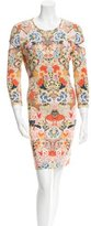 Alexander McQueen Floral Print Cutout Dress