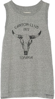 Current/Elliott Canyon Club Printed Mélange Jersey Tank - Gray