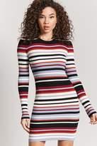 LOVE21 LOVE 21 Striped Sweater Dress