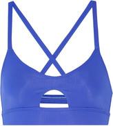 Mara Hoffman Periwinkle cutout stretch-jersey sports bra