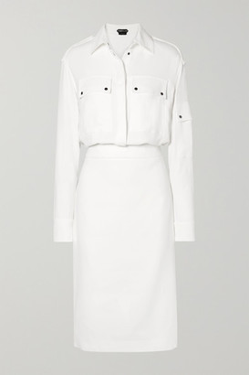 Tom Ford Stretch-crepe Midi Dress - Ivory