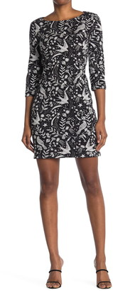 Boden Winifred Jersey Jacquard Dress