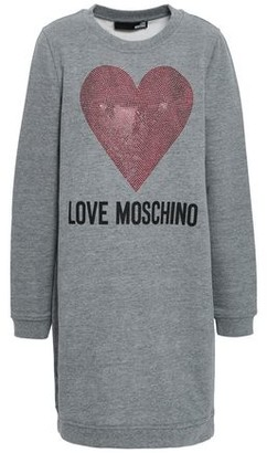 Love Moschino Crystal-embellished Printed French Cotton-blend Terry Mini Dress